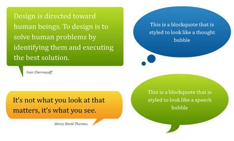 design label css pure css speech bubbles nicolas gallagher