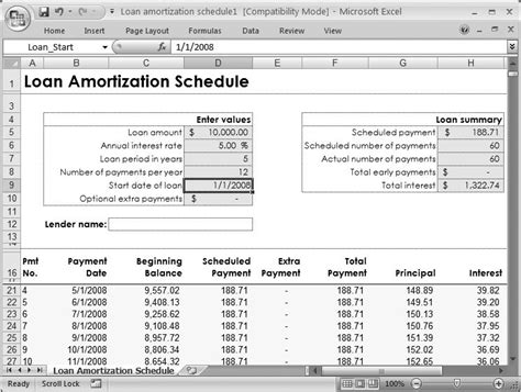 Excel Loan Amortization Template 2007 Download Free Microsoft Excel Templates For Loan And Microsoft Excel Amortization Template