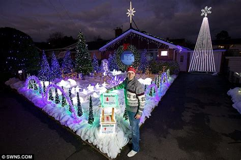 christmas light with radio station mad dj turns home into 163 20 000 winter featuring 60 000 lights and its own