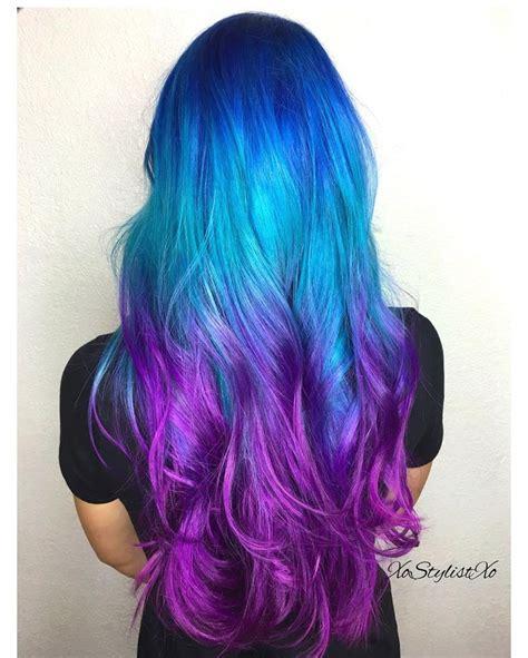 color on blue hair best 25 blue purple hair ideas on