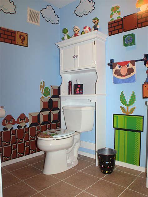 bathroom videos gamer bathroom is flush with pixel art technabob