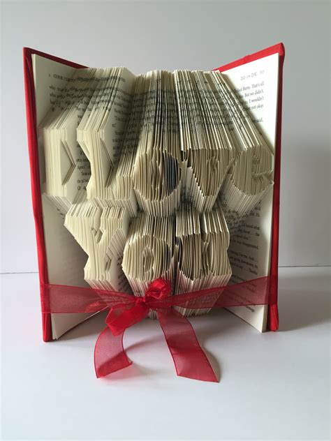 unique home decor gifts i love you book fold couples wedding anniversary