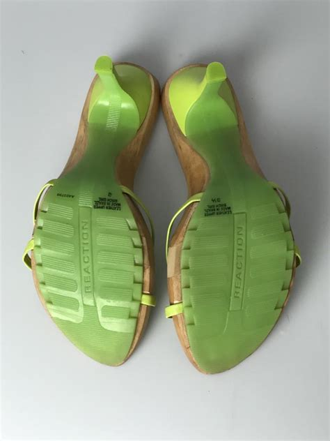 Coles Green Slip by Kenneth Cole Reaction Slip On Heel Lime Green Sandals On