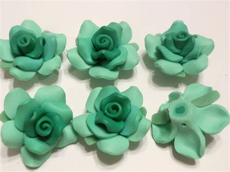 fimo clay 10 fimo polymer clay fimo flower fimo 35mm green