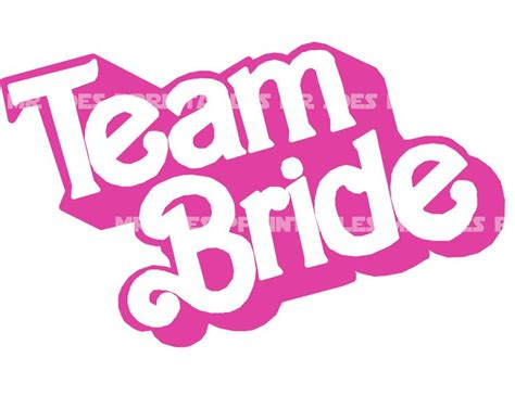 printable barbie font retro bride barbie team bride wedding diy printable iron