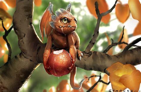 wallpaper cute dragon fruit dragon by staplesart on deviantart