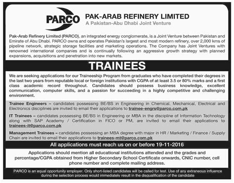 Fresh Mba Supply Chain In Karachi by Parco 2016 Trainee Engineers Management Trainees