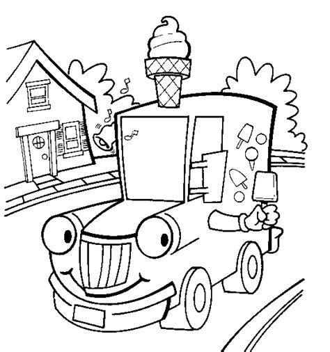 ice cream truck coloring page vehicles coloring page print vehicles pictures to color