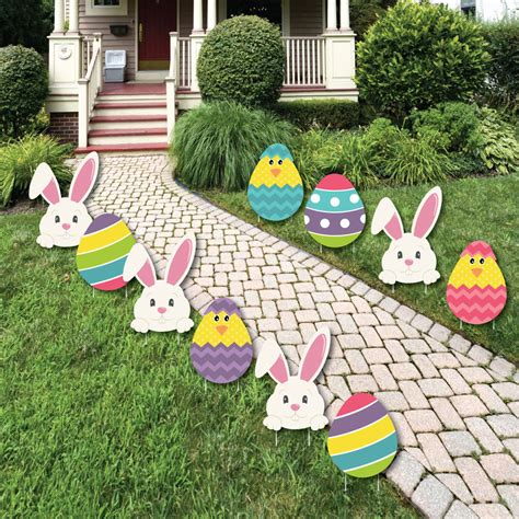 Outdoor Decorations by Easter Bunny Egg Yard Decorations Outdoor Easter Lawn