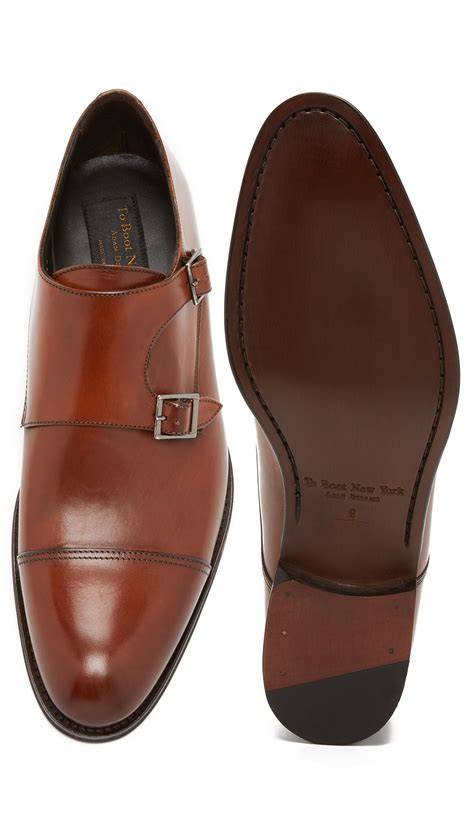 to boot medford monk shoes in brown for