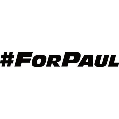 Black And Brown Home Decor by For Paul Paul Walker Tribute Sticker