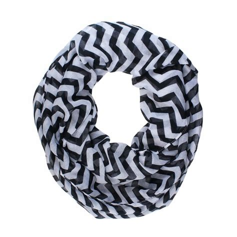 and white chevron infinity scarf black and white infinity scarf