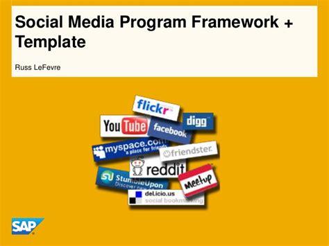 social media policy template for schools social media program framework template slideshare
