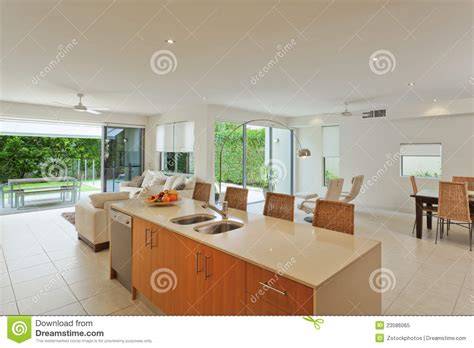 Luxury Living Room And Kitchen Luxurious Kitchen And Living Room Royalty Free Stock Photo