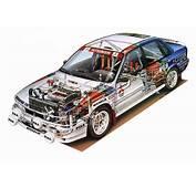 Mitsubishi Galant VR4 WRC CARS Technical Cutaway Wallpaper