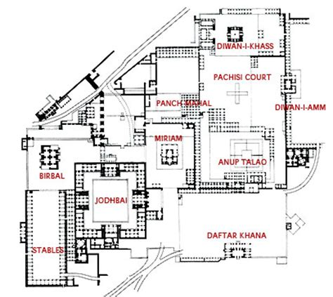 Palace Place Floor Plans fatehpur sikri historical facts and pictures the history hub