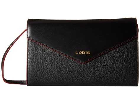 Gaby Wallet lodis accessories kate gabi wallet on a string black white