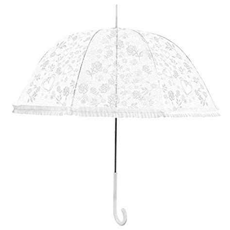 heart pattern umbrella becko stick umbrella flower and heart pattern clear