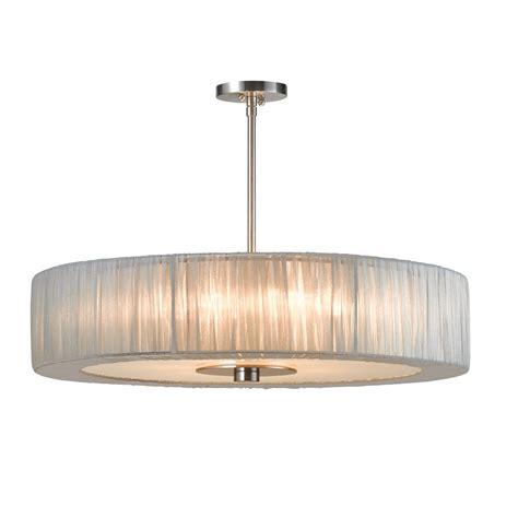 Sonneman Pendant Lighting Sonneman Organza Wrap 6 Light Pendant In Silver L Brilliant Source Lighting