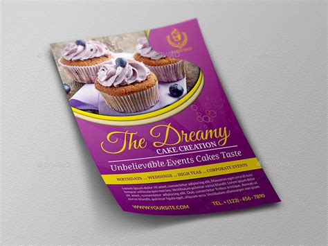 Cake Shop Advertising Bundle Vol 2 By Owpictures Cake Flyer Template