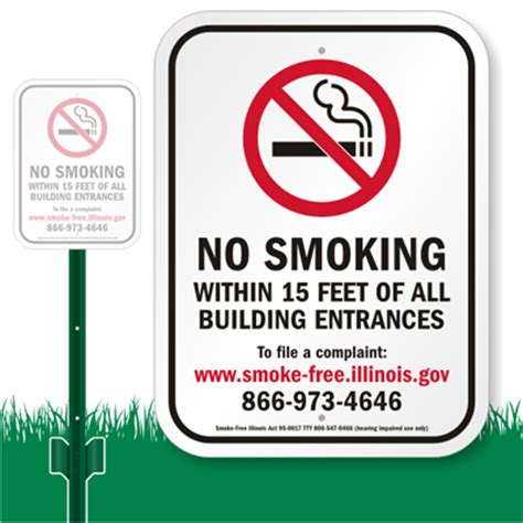 no smoking sign gov illinois no smoking within 15 feet of building lawnboss