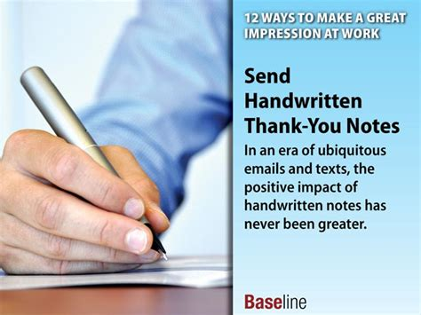 Thank You Note For Handwritten Or Typed 12 Ways To Make A Great Impression At Work