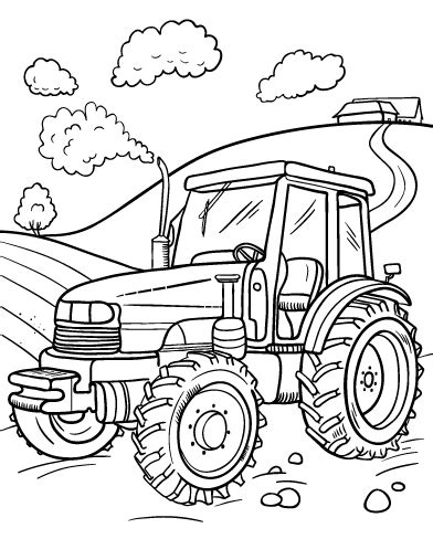 printable coloring pages tractors printable tractor coloring page free pdf download at http