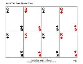 printable deck of cards blank card template make your own cards pdf