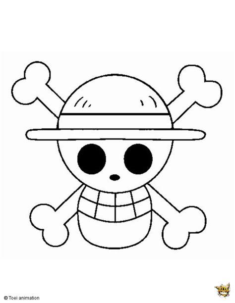 Coloriage Du Drapeau Pirate De Monkey D Luffy Mugiwara
