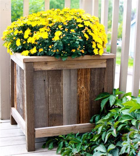 planters diy free planters from upcycled fence wood the friendly home