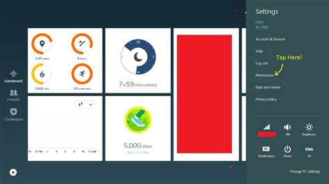 windows 10 charms bar missing microsoft community charm bar to sync on windows app fitbit community