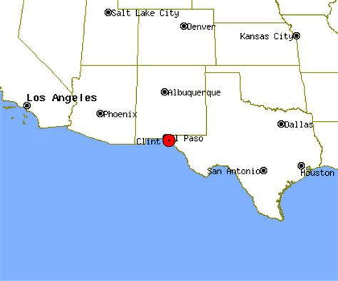 clint texas map clint profile clint tx population crime map