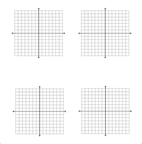printable graph paper with 6 graphs 5 math graph papers