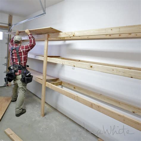 Garage Shelving Easy And Fast Diy Garage Or Basement Shelving For Tote Storage