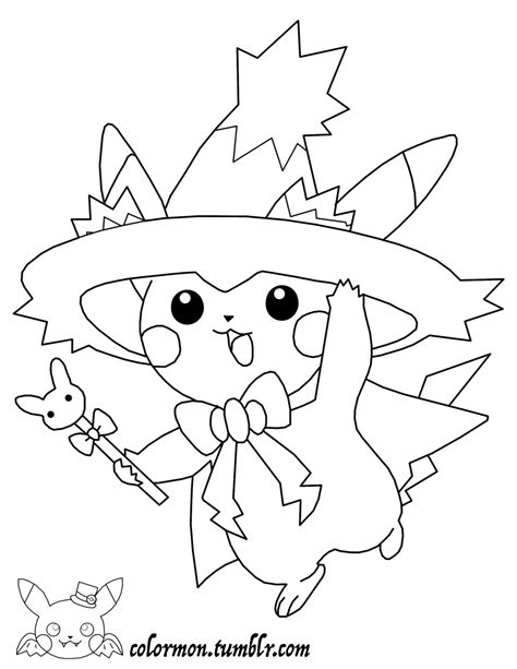 pokemon coloring pages halloween look at how cute pikachu is all dressed up for halloween