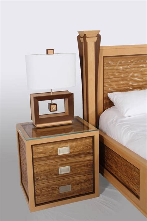 wave bedroom set custom ambient wave bedroom set in zebrawood 2015 for