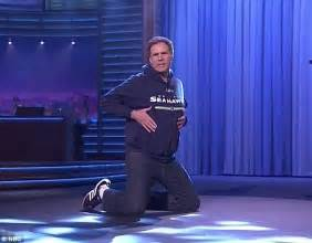 ferrell lip syncs beyonces drunk  love  fallons super bowl special daily mail