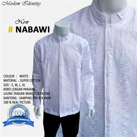 Baju Koko Casual Pakaian Pria Muslim Addien Putih baju koko putih baju koko bordir baju koko butik baju