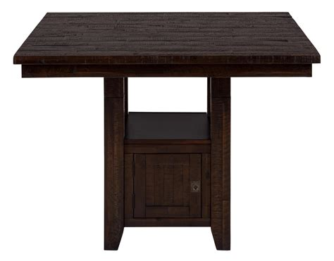 fixed pub table with storage base by jofran wolf and gardiner wolf furniture