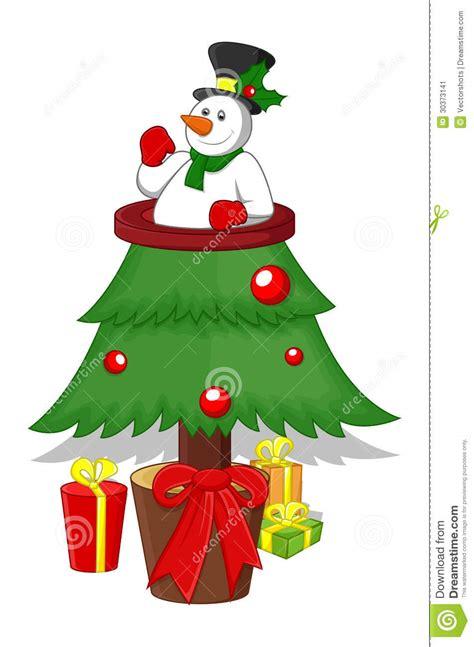 cartoon christmas tree stock image image