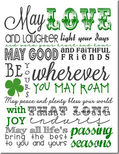 printable irish quotes irish blessing free printable cottage in the oaks