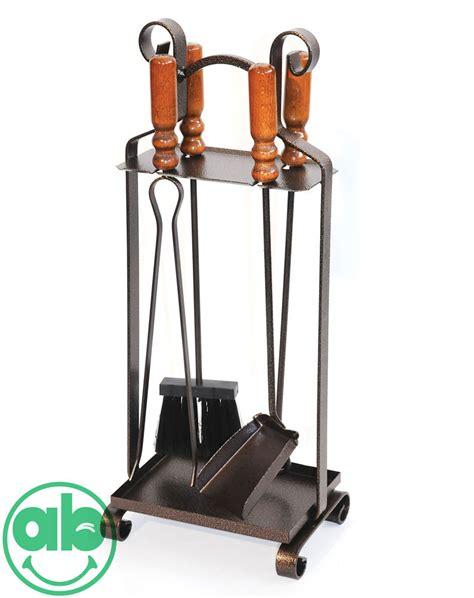 attrezzi camino set 4 accessori camino in acciaio manico in legno supporto