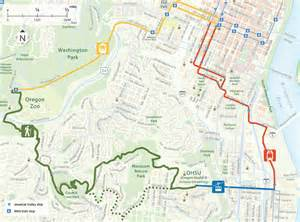 Portland Tram Map by Take A Hike The 4t Trail Tram Trolley Train