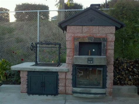combination outdoor fireplace and grill outdoor pizza oven and grill combination outdoor kitchen