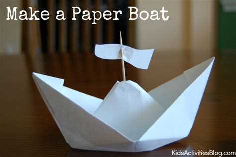 how to make a paper boat that doesn t sink how to make a paper boat columbus day activities kids