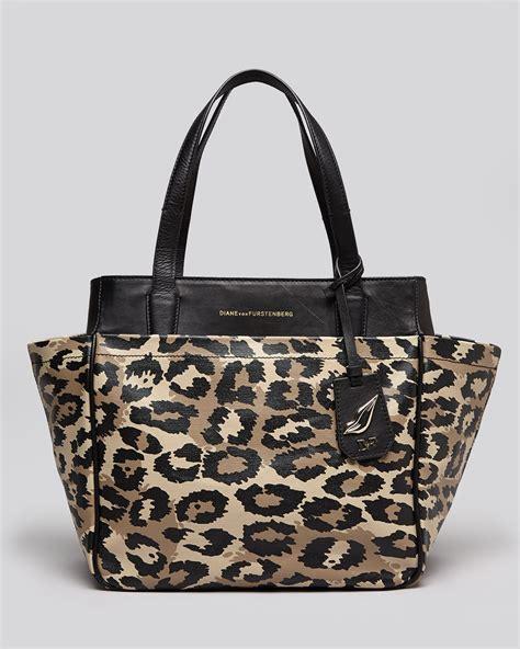 Diane Furstenberg Cork Tote by Diane Furstenberg Tote On The Go In Animal Leopard