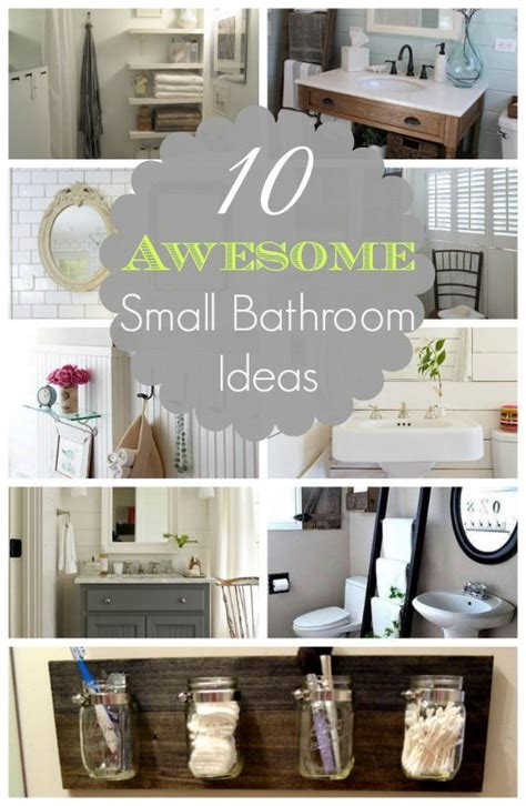 Wohnzimmer Ideen 4395 by 10 Awesome Small Bathroom Ideas Crafty Stuff