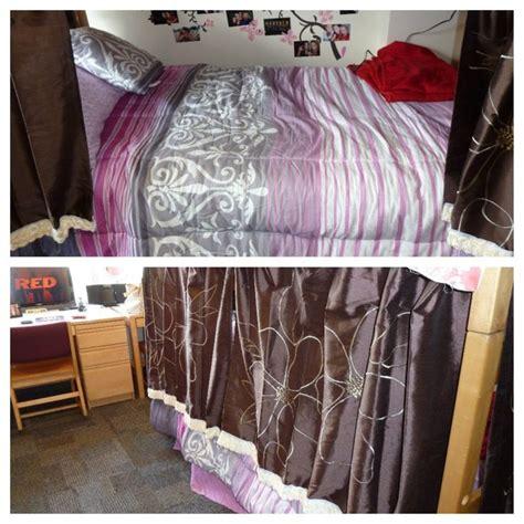 curtains for college dorm loft bed curtains dorm roole