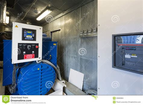 industrial diesel generator for backup power stock images