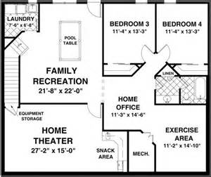 4 bedroom ranch house plans with basement best 25 basement floor plans ideas on